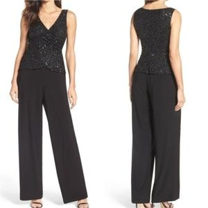 Adrianna Papell Dress Jersey Jumpsuit With Sequin